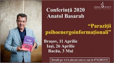 Brasov. Conferinta Anatol Basarab-Parazitii psihoenergoinformationali