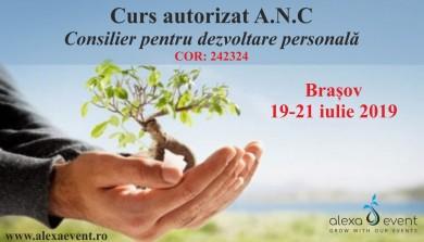 Brasov. Curs consilier pentru dezvoltare personala – autorizat ANC