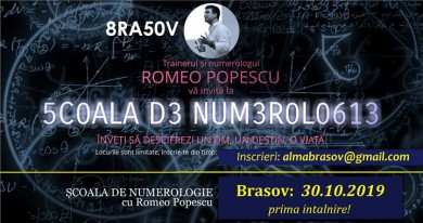 Brasov: Scoala de Numerologie Romeo Popescu