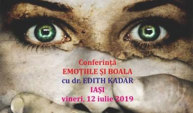 """Conferinta """"Emotiile si Boala"""" cu Edith Kadar la Iasi"""