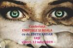 "See Conferinta ""Emotiile si Boala"" cu Edith Kadar la Iasi details"