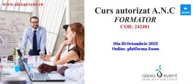 Curs Autorizat Formator Octombrie 2021