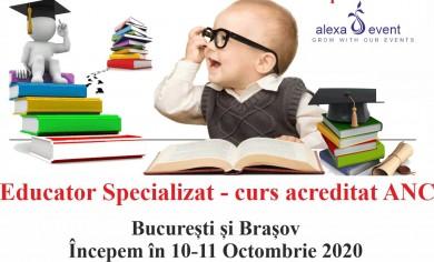 Curs Educator Specializat - Acreditat ANC - Bucuresti / Brasov