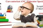 Vedeti detalii pentru Curs educator specializat online 2021
