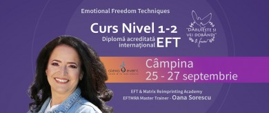 """Curs Nivel 1,2  """"Tehnici de Eliberare Emotionala"""" (EFT)"""