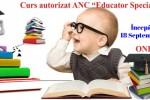 Vedeti detalii pentru Curs Online de Educator Specializat – acreditat ANC Septembrie 2021