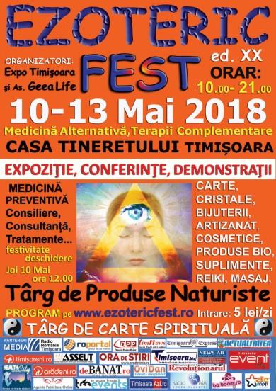 EzotericFest Timisoara 10 -13 Mai 2018 ed.XX Casa Tineretului � Conferinte