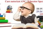 Vedeti detalii pentru Online. Curs autorizat ANC - Educator Specializat