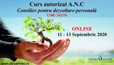 Online - Curs Autorizat - Consilier pentru dezvoltare personala