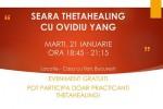Vedeti detalii pentru Seara ThetaHealing cu Ovidiu Yang