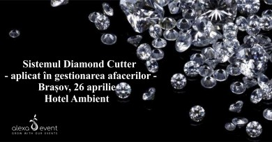 Sistemul Diamond Cutter aplicat in gestionarea afacerilor (Brasov, 26 aprilie)