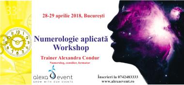 Workshop Bucuresti: Numerologie aplicata - 28 si 29 aprilie